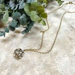 J. Crew Crystal Ball Necklace